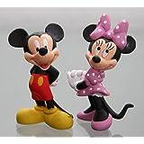 Bullyland - MICKY & MINNIE MAUS- Figura : MICKY MAUS (MICKEY MOUSE) / aprox. 6 cm + MINNIE MAUS / 6,5 cm - Walt Disney