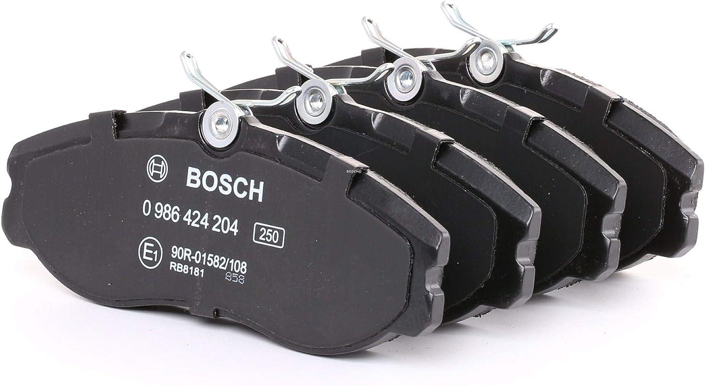 Bosch 0 986 424 204 Bremsbelagsatz Scheibenbremse 4 Teilig Auto