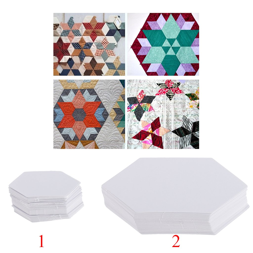 kesoto 300Pcs Paper Quilting Templates English Paper Piecing DIY Patchwork Sewing Crafts
