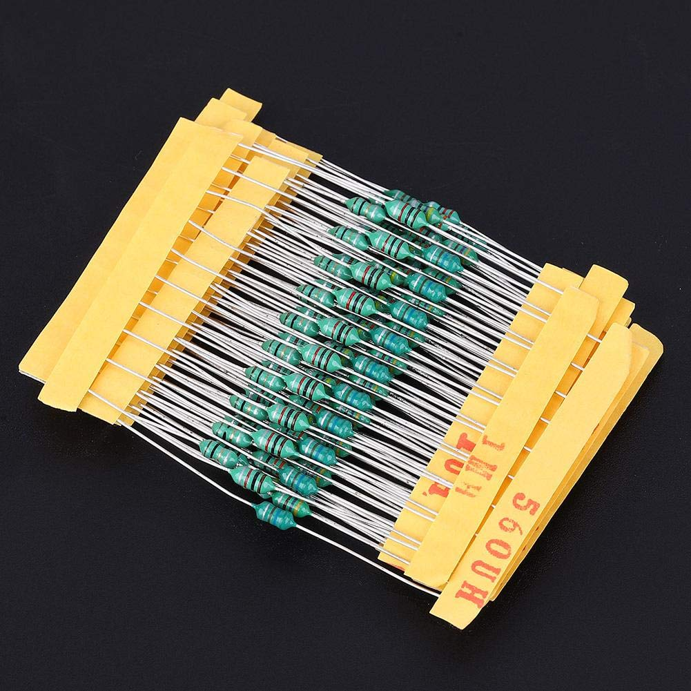 12 Values Inductor 1UH 10UH 22UH 33UH 47UH 100UH 150UH 220UH 330UH 470UH 560UH 1MH DIP 1//4W Color Ring Choke Inductors Assorted Kit Total 120pcs//Each 10