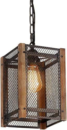 Kichler 42384MIZ, Lacey Mini Drum Pendant, 1 Light, 60 Total Watts Halogen, Mission Bronze