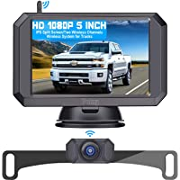 Yakry Y24 HD 1080P Digital Wireless Backup Camera System 5 Inch Monitor Hitch Rear View Camera for Trucks,Campers,Vans…