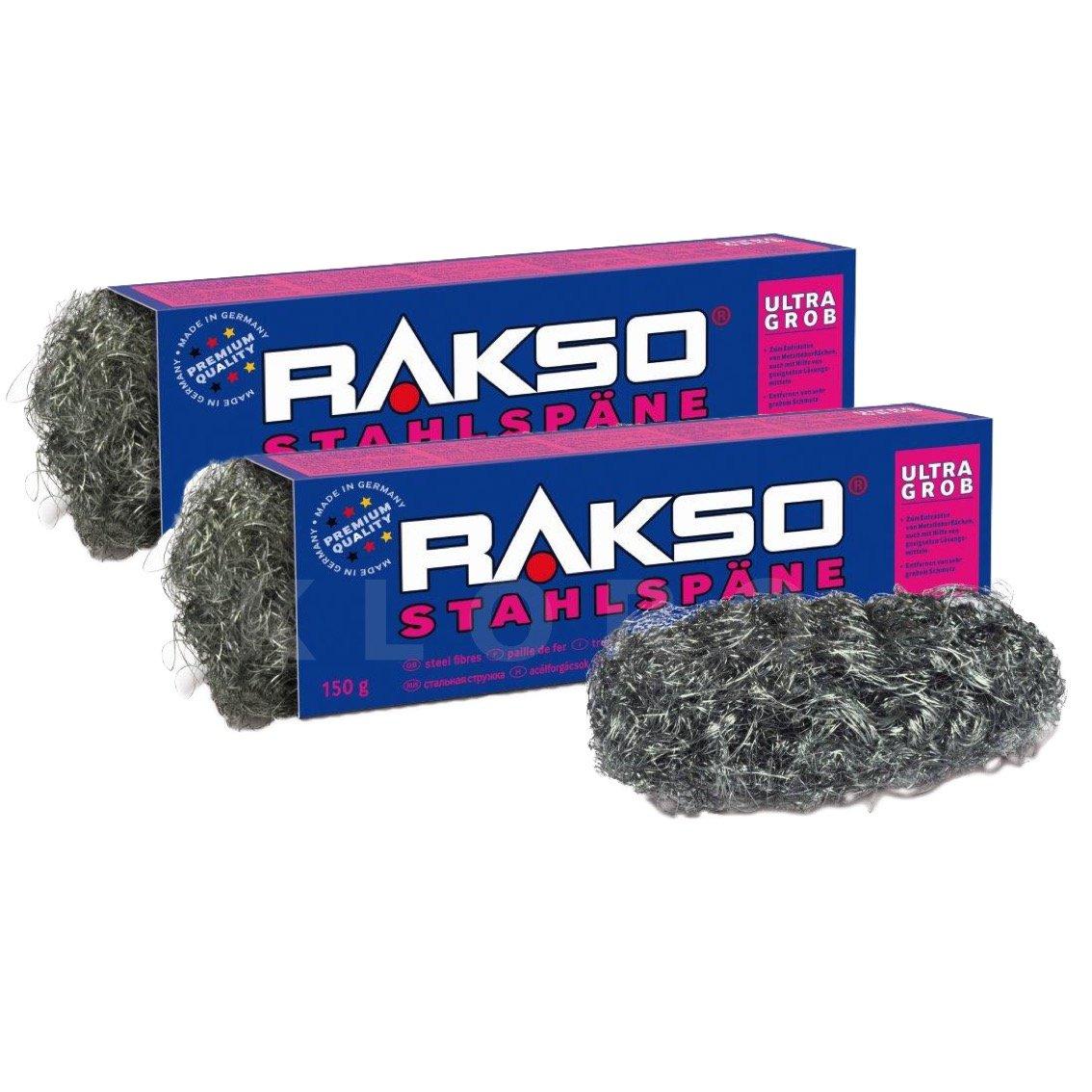 RAKSO® Stahlspäne Sorte ultragrob 2 Pakete mit 150 g 030403