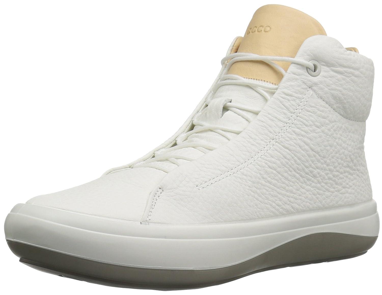 ECCO Women's Kinhin High Top Fashion Sneaker B01MDQUU0E 37 EU / 6-6.5 US|White/Veg Tan