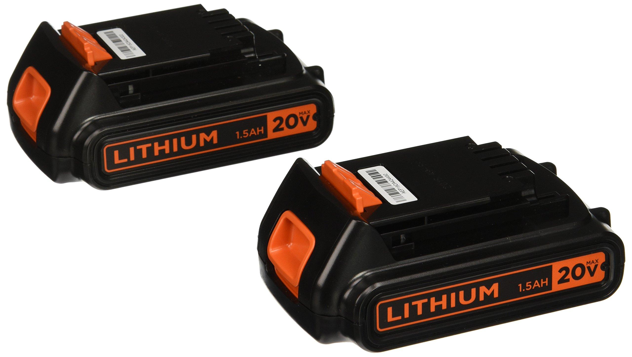2 Baterias Originales BLACKDECKER 20v 1.3ah LBXR20B-2