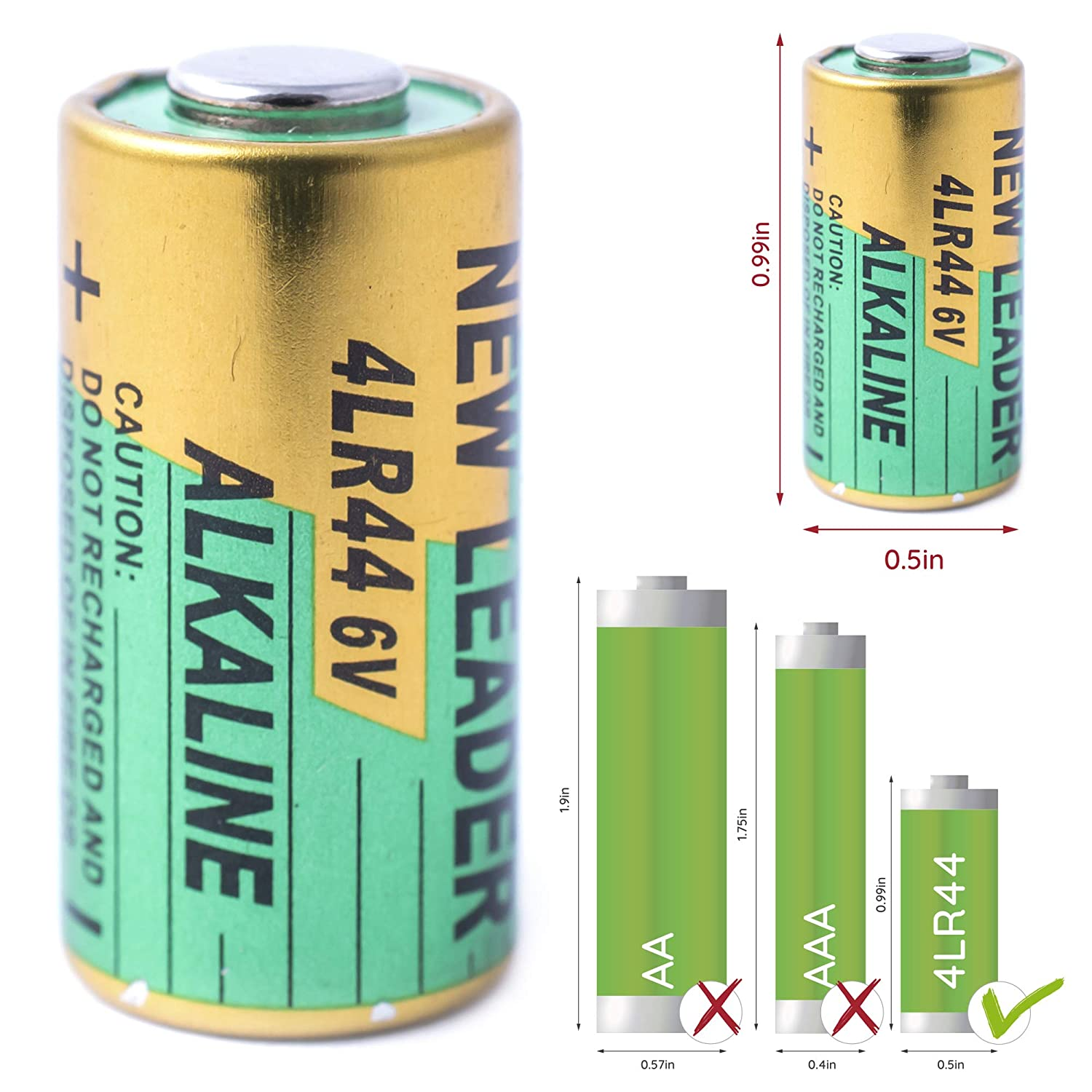 Bark Collar Batteries by GoodBoy 5-Pack 6V Alkaline Battery 4LR44 Also Known as PX28A, A544, K28A, V34PX