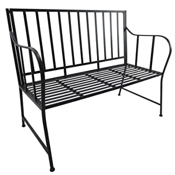 Outsunny Banc De Jardin Design Contemporain 3 Places Dim 117l X 60l