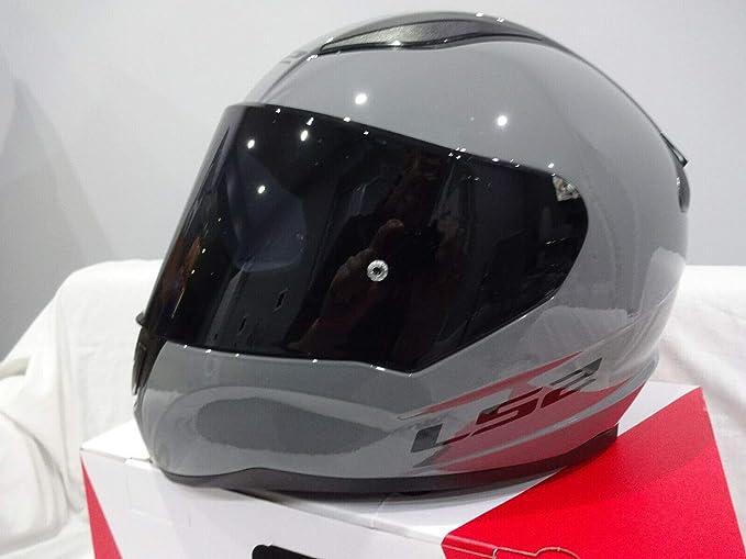LS2 Casco Integrale per Adulti FF353 Nardo Grigio Moto Crash Protection Casco Visiera Scuro Nuovo per 2020 Road Legal
