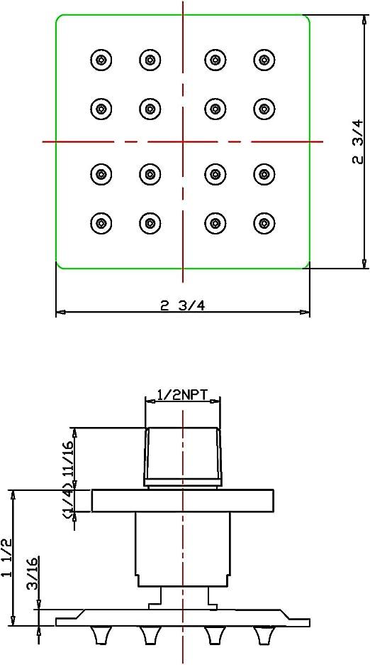 10x2.5 Inline K-Series 5 Micron Sediment 1//4 FQC K5505-JJ Omnipure