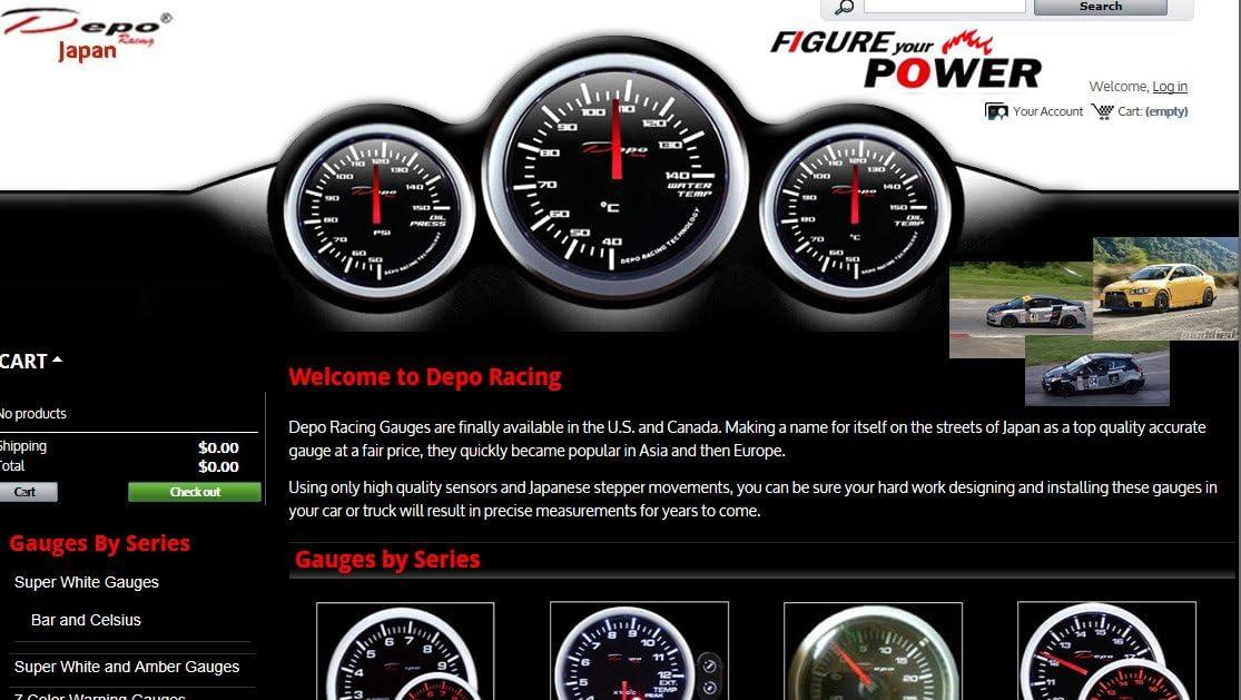 DEPO Racing 52mm Digital Fuel Pressure Gauge Bar