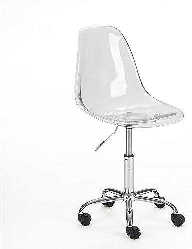 Urban Shop WK657754 Acrylic Rolling Chair
