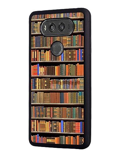 LG V30 Case,Books in Library Design Slim Impact Resistant Rubber Protective Case Cover for LG V30/LG V30 Plus/LG V30s/LG V35/LG V35 ThinQ