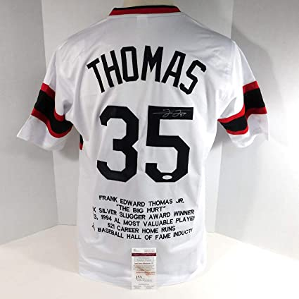promo code 164c0 0a99e Signed Frank Thomas Jersey - Replica Stat 201851 - JSA ...
