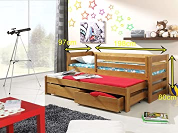 Etagenbett Schutzgitter : Bett kubus etagenbetten kiefer u2013 bettauszug 2 personen l : amazon