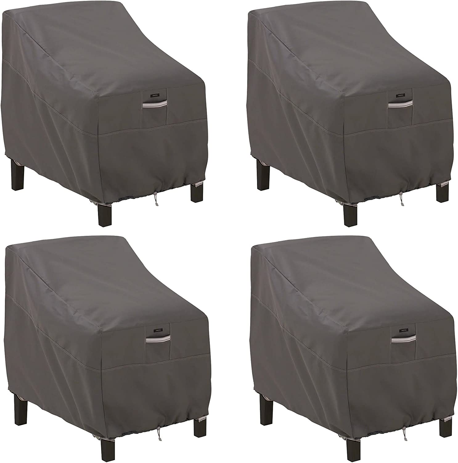 Classic Accessories Ravenna Patio Deep Seat Lounge Chair Cover (4-Pack)