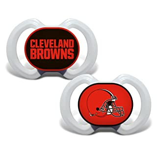 Baby Fanatic 2 Piece Pacifier Set, Cleveland Browns