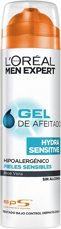 L'Oréal Paris Men Expert Hydra Sensitive Gel de Afeitado para Hombres con Piel Sensible - 200 ml