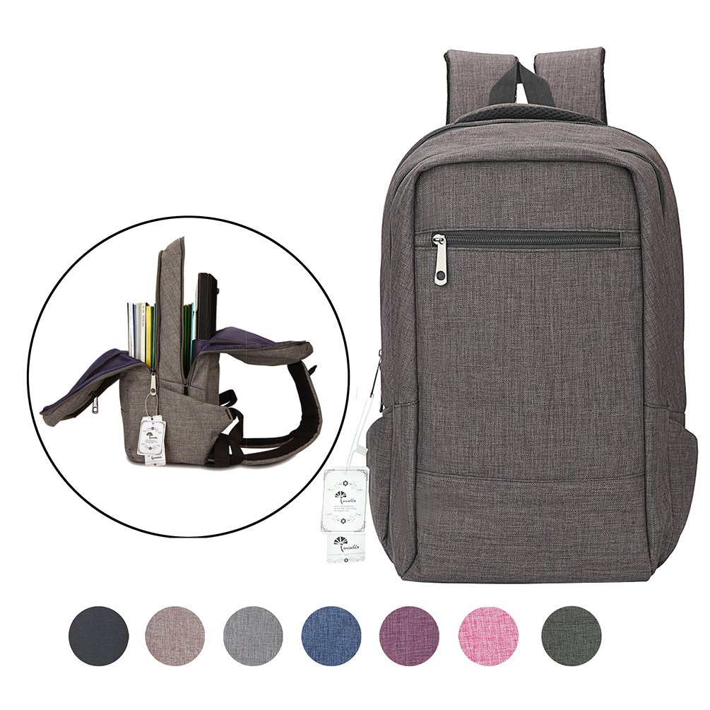 Laptop Backpack,Winblo 15 15.6 inch College Backpacks Lightweight Travel Daypack (Dark Grey)