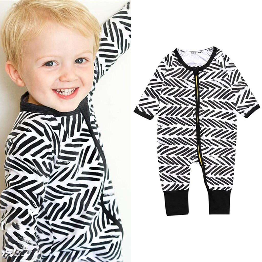 B/éb/é Gar/çons Pyjamas Coton Barboteuses Grenouill/ères Fermeture /éclair Outfits 3-6 Mois