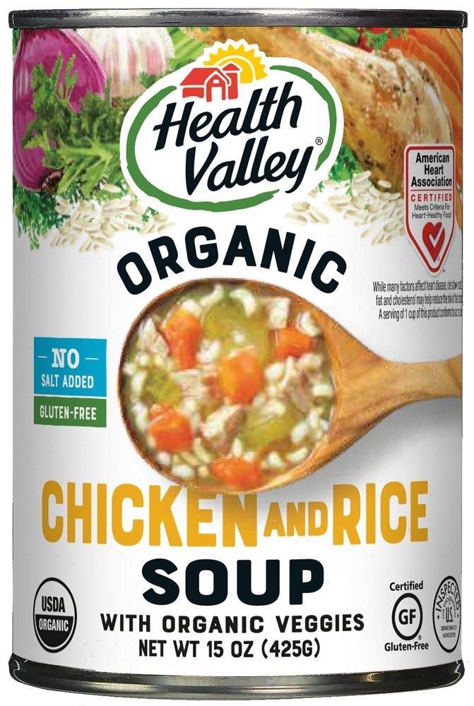 Health Valley Organic No Salt Added Chicken Noodle Soup, 14.5 oz