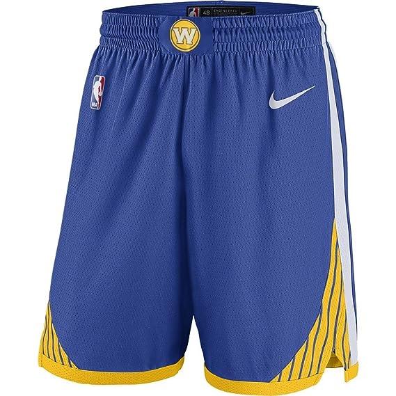 Nike GSW M Nk Swgmn Road Pantalón Corto Golden State Warriors de ...