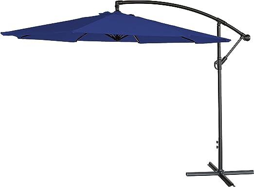 3M, parasol de jardín colgante, soporte independiente estilo banana, sombrilla de jardín., azul: Amazon.es: Jardín