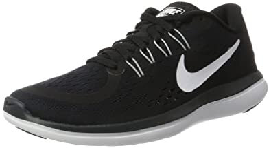 Nike Womens Flex 2017 RN Running Shoe Black/White/Anthracite/Wolf Grey 5