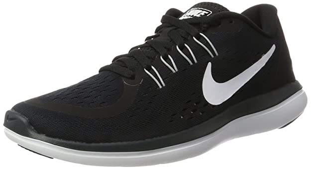 Nike Womens Flex 2017 RN Running Shoe Black/White/Anthracite/Wolf Grey 7.5 B(M) US