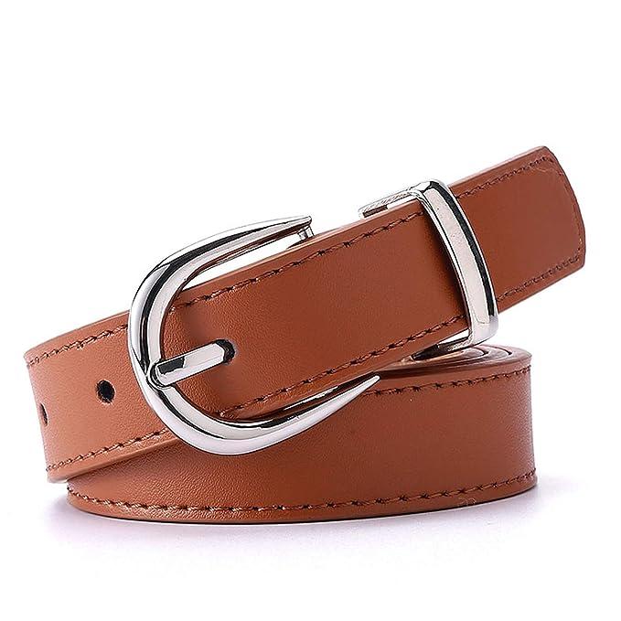 ef797ff49480e Pragmaticv Las mujeres cinturón cinturones para mujer trajes de vestir dama  vestido cinturon cintura correas de cuero de la PU  Amazon.es  Ropa y  accesorios