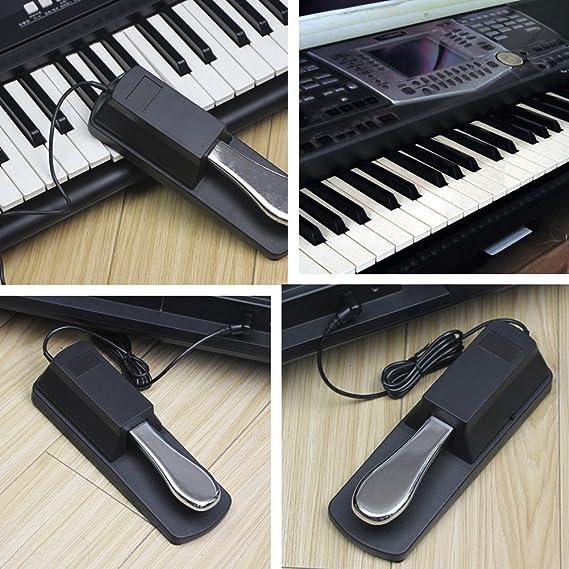 Teclado Sustain Pedal Durable Piano Piano Amortiguador de Piano para Teclado Digital Piano/Electrico Piano: Amazon.es: Instrumentos musicales