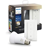 Philips Hue White Ambiance Wireless Dimmer Kit: Smart Bulb LED Kit [E27 Edison Screw] with Bluetooth Includes, Dimmer…