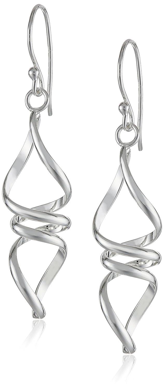 bdd604ed4 Amazon.com: Sterling Silver Twisted Drop Earrings: Jewelry