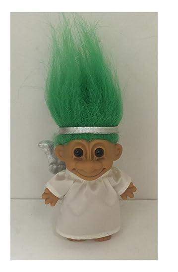 Amazon Com My Lucky Angel Troll Doll Green Hair Toys Games