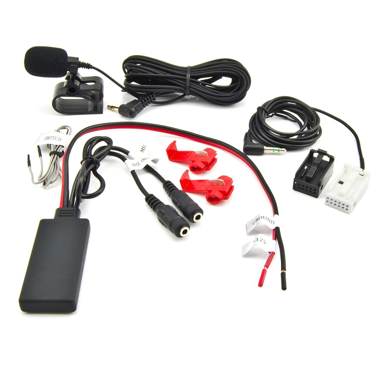 Bluetooth, aux Adaptateur BMW SÉ RIE 3 (E90/E91/E92) 5 (E60/E61) 6 (E63/E64) X5 (E83) Z4 (E85) Autoradio Spotify mains libres té lé phone Watermark WM-BTMIC27