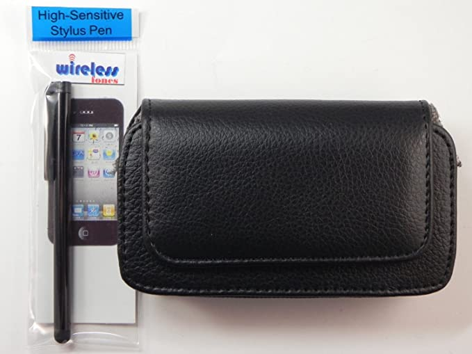 check out 755d0 f3246 Leather Belt Clip Holster Pouch Case For iPhone 5 Otterbox Defender Series  Case, Includes A Black Stylus Pen (By Wireless Fones)