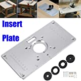 Kreg molded router table insert plate for triton routers amazon router table insert plate uranny 700c aluminum router table insert plate 4 rings screws greentooth Choice Image