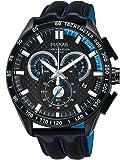 Pulsar Herren-Armbanduhr XL WRC Chronograph Quarz Leder PX7009X1