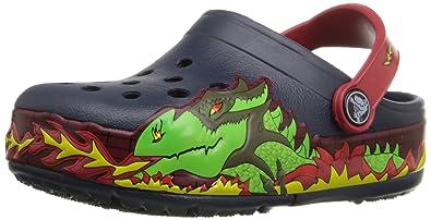 3bbf4a1fb3d276 crocs Kids  CrocsLights Fire Dragon Light-Up Clog (Infant Toddler Little