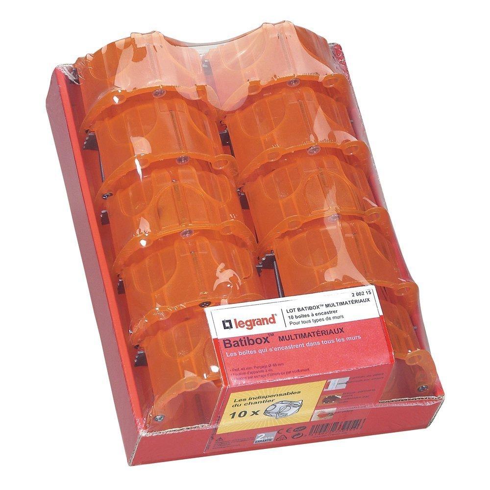 10 unidades 200215 amarillo Legrand Batibox Cajas de montaje