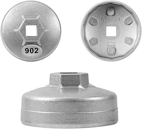 901 Keenso 65mm 14 Fl/ûtes Cl/é Filtre /à Huile Cl/é /à Douille Outil Cl/é /À Bouchon Capuchon 901 de Bo/îtier Remover en Aluminium Outil de Dissolvant de Voiture