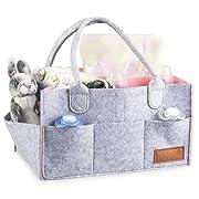 Baby Diaper Caddy Organizer Changing Table Bag Nursery Storage Basket for Newborn, Baby Shower Gift, Pink