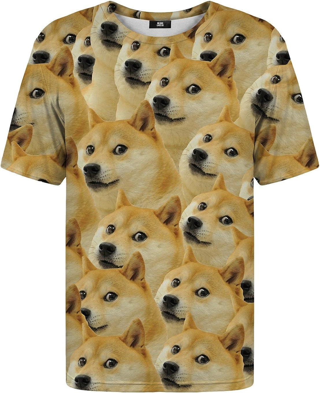 Mr. Gugu & Miss Go Hombre Mujer Camiseta Estampada Doge: Amazon.es: Ropa y accesorios