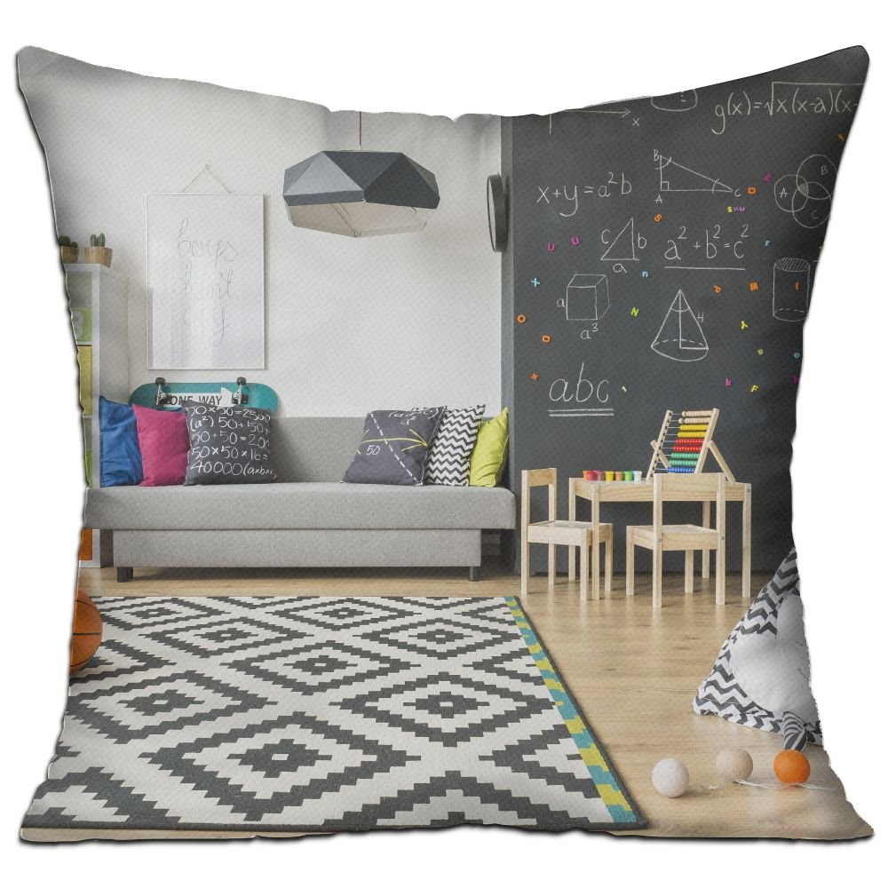 Xxxon Spacious Black And White Child Room With Window Sack Chair Regale Breathable Office Pillows 18x18