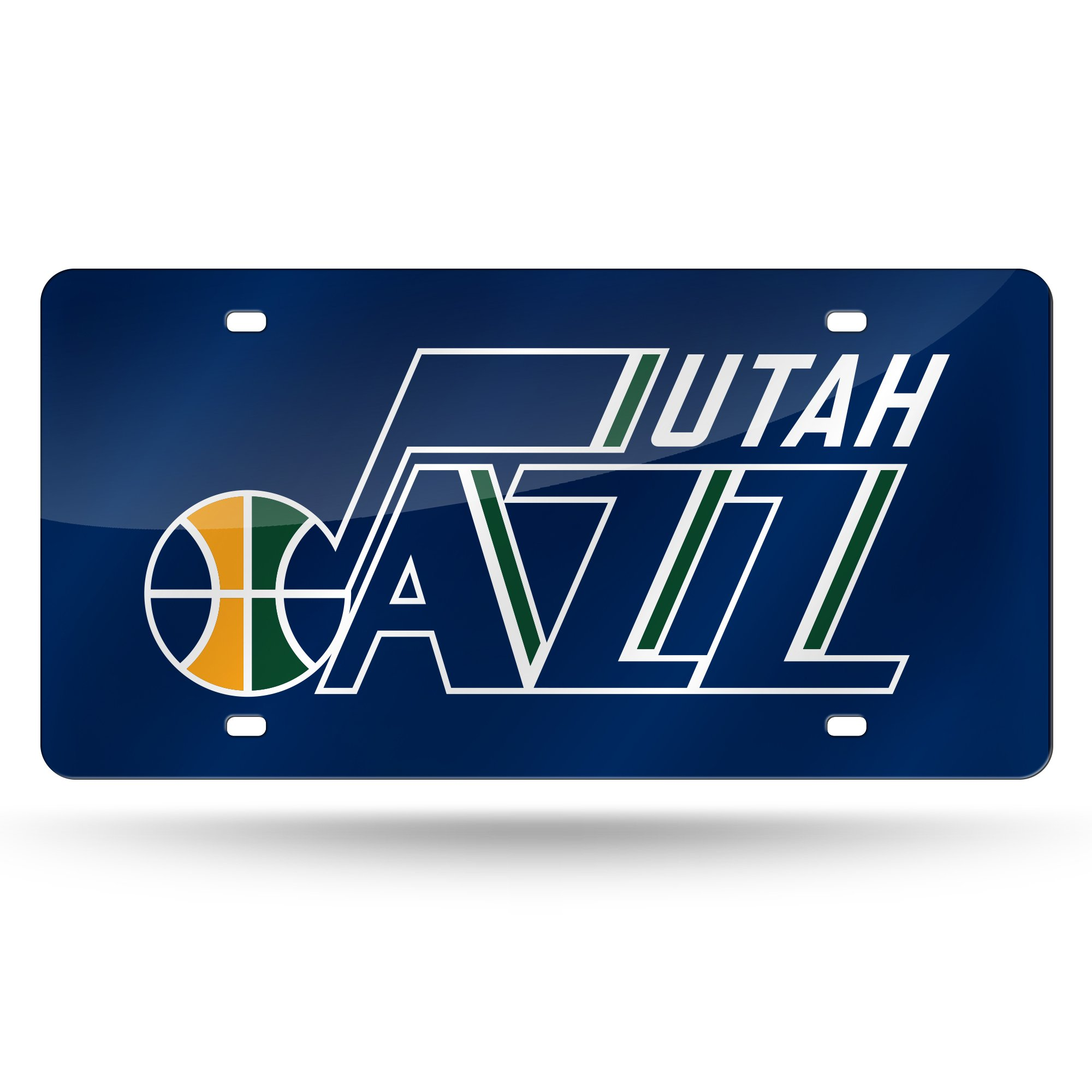 Rico NBA Utah Jazz Laser Inlaid Metal License Plate Tag