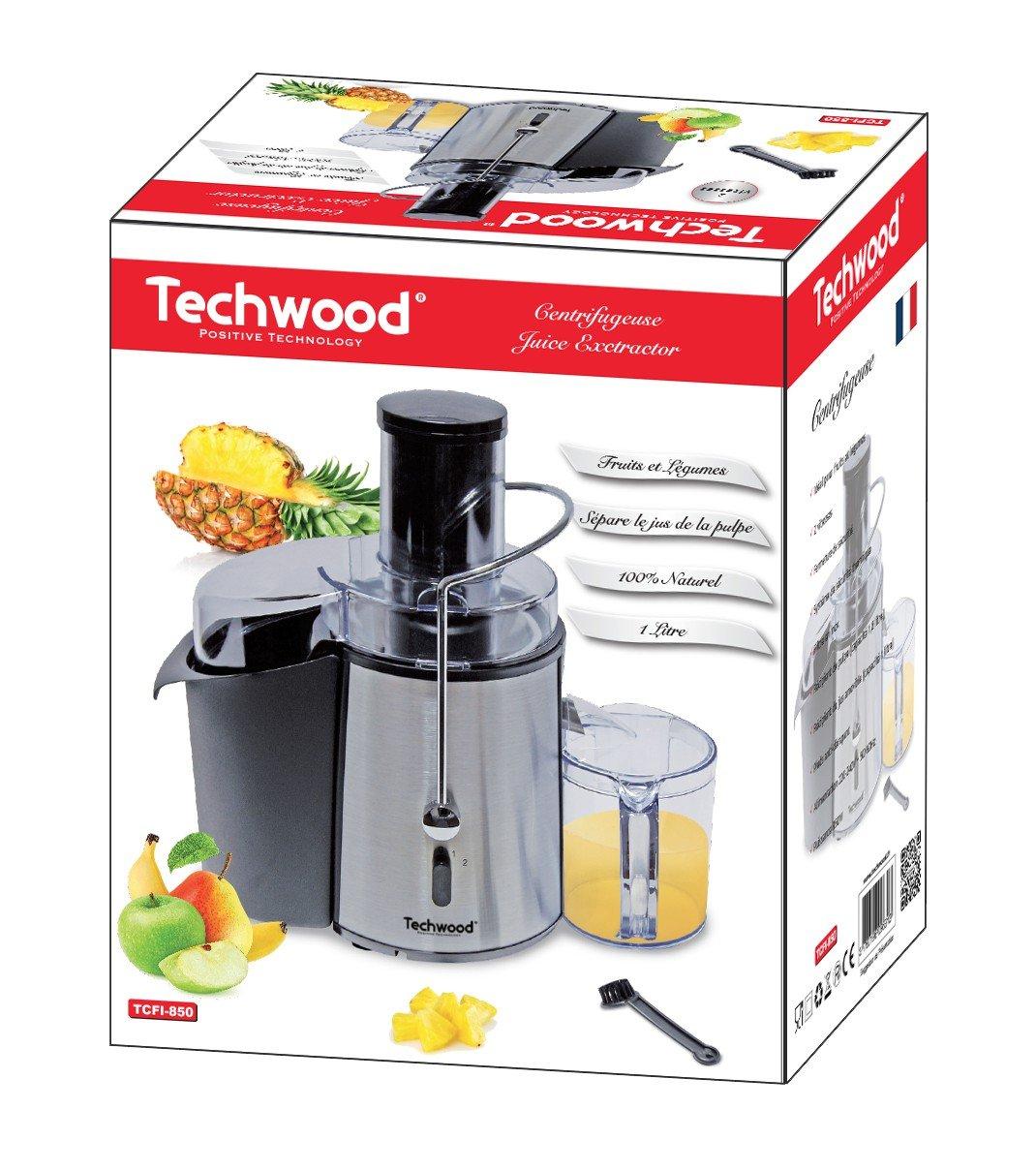 Techwood TCFI-850-Exprimidor de acero inoxidable: Amazon.es: Hogar