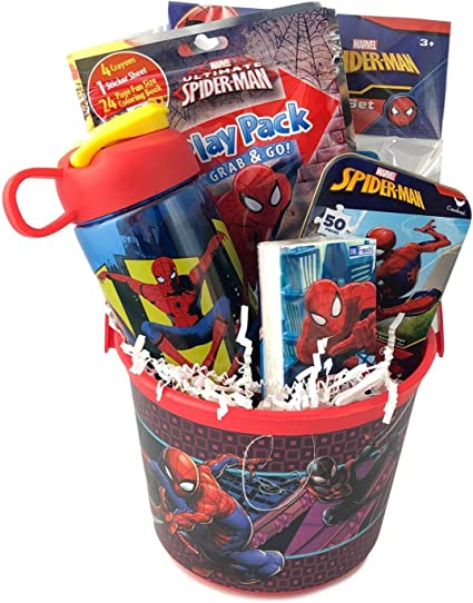 Amazon.com: Premade Spiderman Gift Basket for Young Boys ...
