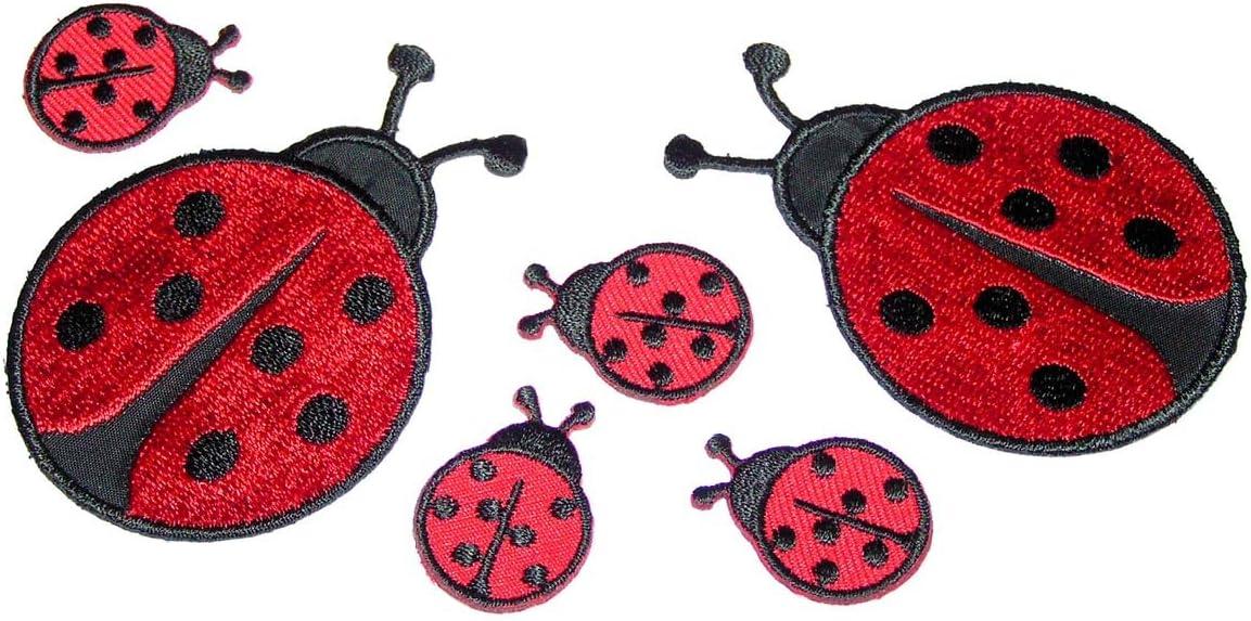 Avery Zweckform Etiketten Aufkleber Sticker Marienkäfer rot 114 Stück Deko