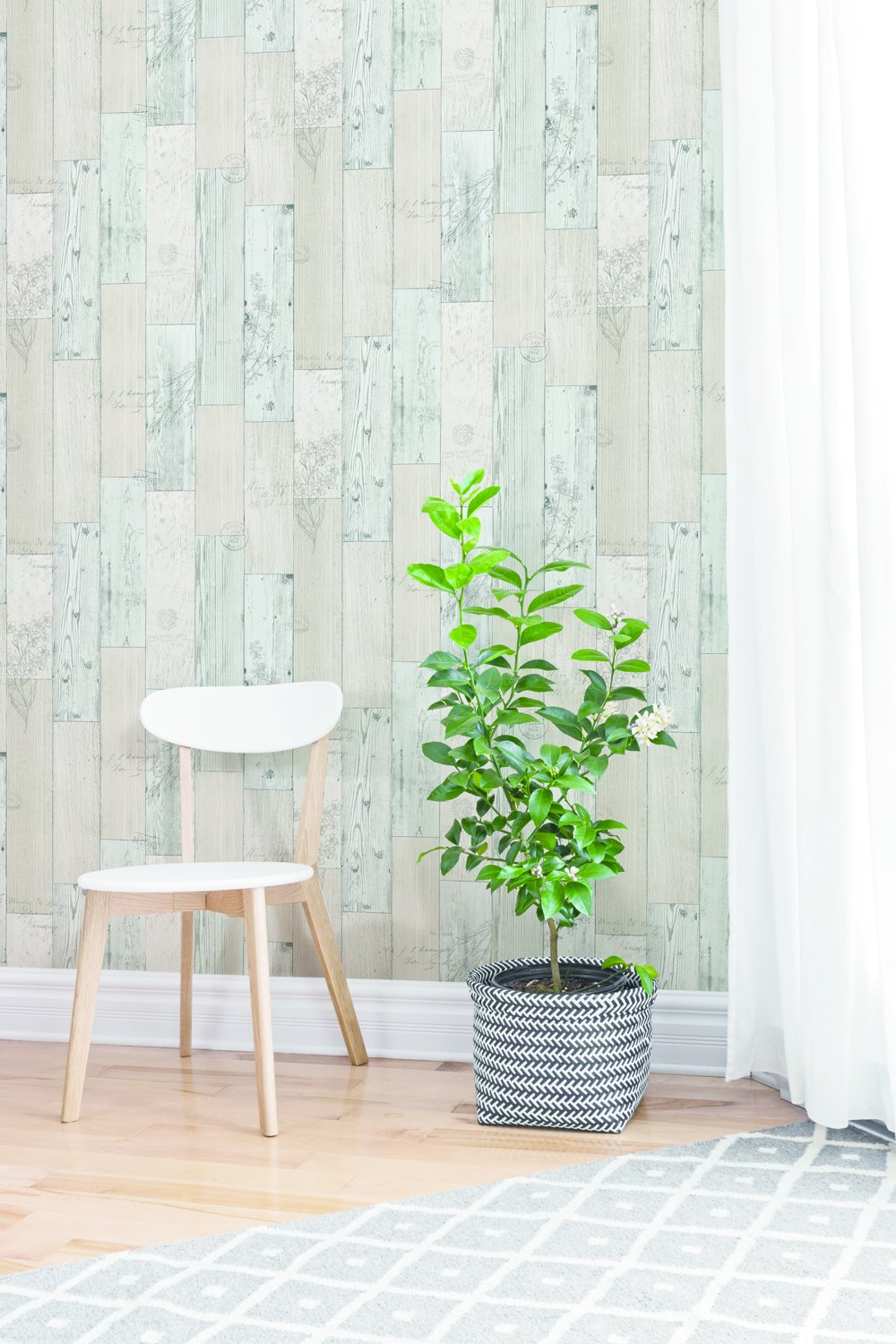 Vintage Herb Wood Panel Pattern Contact Paper Self-adhesive Peel-stick  Wallpaper by VBS - - Amazon.com