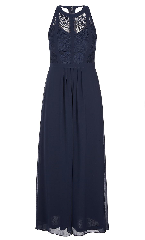 Plus Size Lace Panelled Bodice Maxi Dress