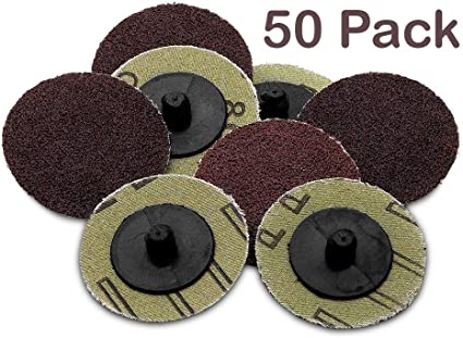 Fude Roll Lock Sanding/Grinding Discs -50 Pieces - 2 Inch 36 Grit -For Use with Drill/Die Grinder; For Any Surface Prep Or Finishing Job - by: Amazon.es: Hogar